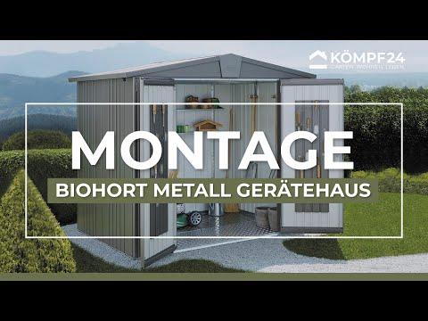 Biohort Metall Gerätehaus Europa Aufbau & Montage