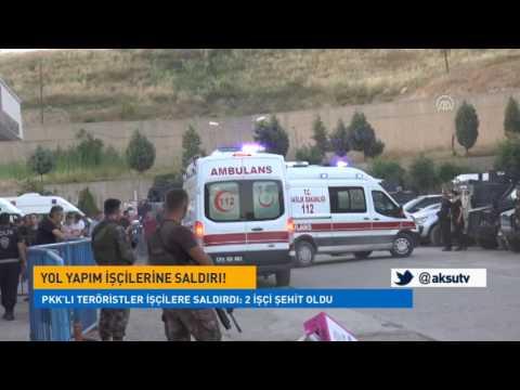 PKK'lı Teröristler İşçilere Saldırdı: 2 İşçi Şehit Oldu
