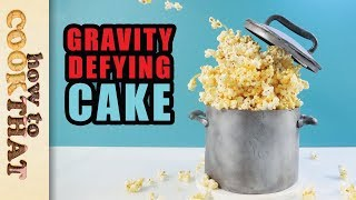 Gravity Defying Caramel Popcorn Cake   How To Cook That Ann Reardon