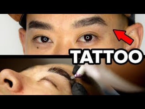 A Guy Gets Microbladed Eyebrows For The First Time