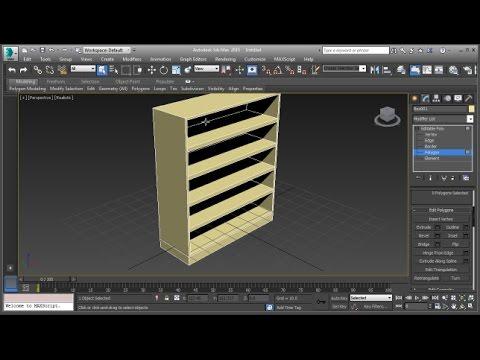 3ds Max Bookshelf Modeling Tutorial (Basic)