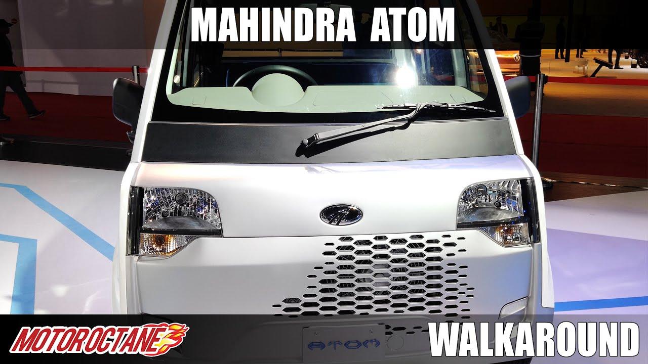Motoroctane Youtube Video - Mahindra Atom Quadricycle - Future of mobility | Auto Expo 2020 | Hindi | Motoroctane