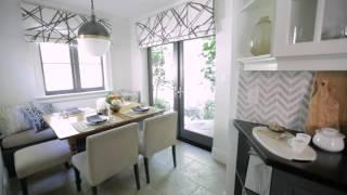 Interior Design — High-Contrast Small Graphic Galley Kitchen