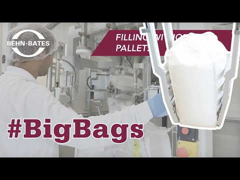 Big bag filling in a hygienic room