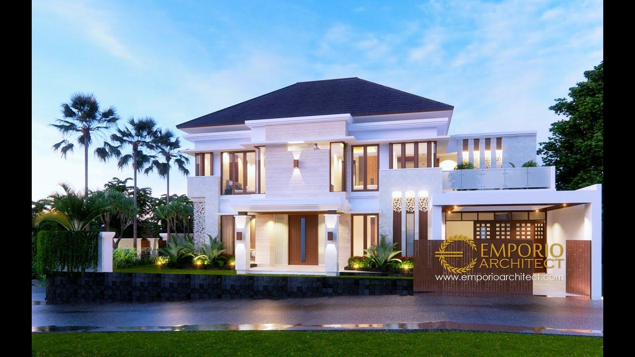 Video 3D Desain Rumah Villa Bali 2 Lantai Ibu Indah di Cibubur, Jakarta Timur