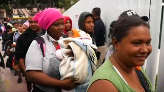 Migrants wait months to claim asylum at crowded Reynosa Shelter