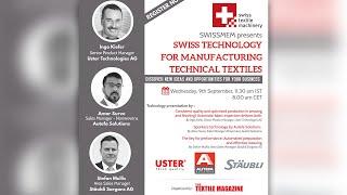 SWISSMEM webinar Swiss Technology for Manufacturing Technical Textiles