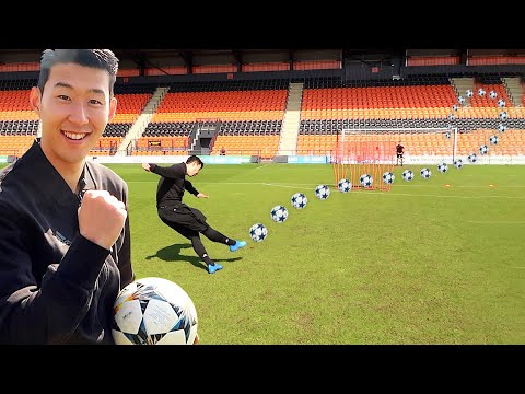KNUCKLEBALL CHALLENGE WITH SON HEUNG-MIN (손흥민)  ⚽☄