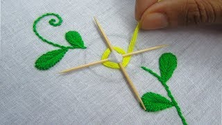 Hand Embroidery, Easy Flower Embroidery Trick With Tooth Pick
