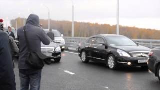 Путин открыл Бугринский мост в Новосибирске
