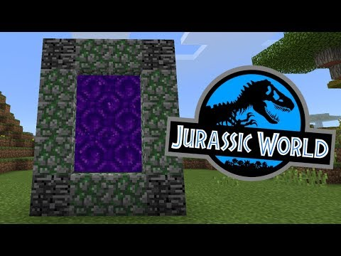 How To Make a Portal to the Jurassic World Dimension in Minecraft Pocket Edition