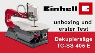 Dekupiersäge Einhell TC-SS 405 E - unboxing und Test - Zwergenwerkstatt