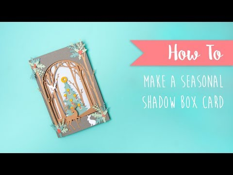 How To Create Christmas Shadow Box Die - Sizzix