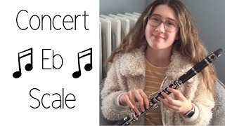 How to Play the Concert Eb Scale (F Major) on Clarinet