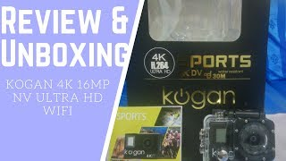 Review and Unboxing - Action Camera Kogan 4K 16 MP NV Ultra HD WiFi Part I