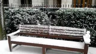 Великобритания, Зима в районе Докландз, Лондон