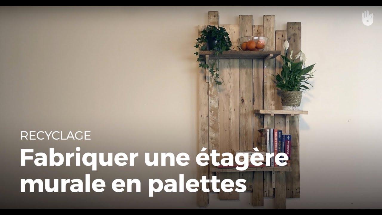 Fabriquer une tag re murale design en palette fabriquer des meubles avec d - Fabriquer une etagere en bois ...