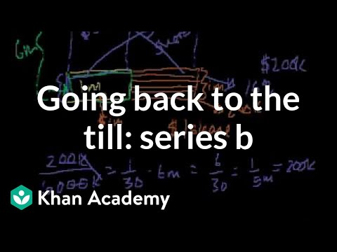 Going back to the till: Series B (video)   Khan Academy