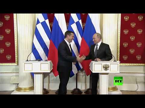 العرب اليوم - شاهد: رئيس وزراء اليونان يطلب هدية من بوتين