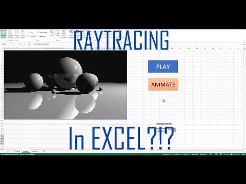 Энтузиаст реализовал в Excel трассировку лучей. Инструкция внутри