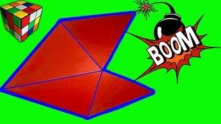 Как сделать ДВОЙНУЮ ХЛОПУШКУ из бумаги. Хлопушка оригами своими руками. Поделки оригами