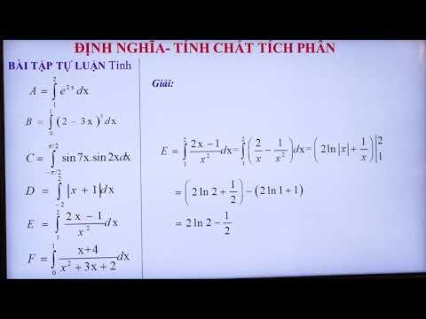Toán 12: Tính tích phân bằng định nghĩa và tính chất, Hoàng Thị Nhiên, PTDTNT THPT Miền Tây