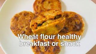 కప్పు గోధుమపిండి రెండు స్పూన్ల ఆయిల్ తో New Healthy breakfast or snack / Tasty & healthy wheat flour