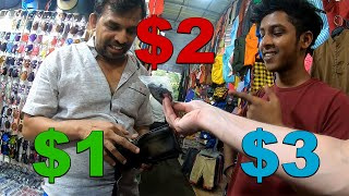 Bargaining for KNOCKOFFS in SRI LANKA. $3 or less fake MARKET SPREE in Colombo (Pettah) & Kandy 🇱🇰