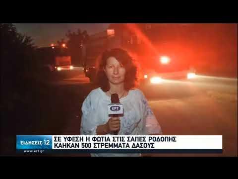 Φωτιά Ροδόπη | Ολονύχτια μάχη με τις φλόγες – Σε ύφεση η πυρκαγιά | 10/07/2020 | ΕΡΤ