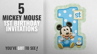 Top 10 Mickey Mouse 1St Birthday Invitations [2018]: Mickey Mouse 1st Birthday Invitations W/