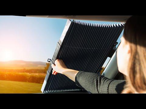 Parasolar Auto Retractabil Automat pentru Parbriz sau Luneta Spate