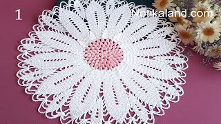 CROCHET How To Crochet Doily #3  EASY Tutorial Part 1, 1 - 5 Round
