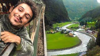 ŞAŞKINA DÖNDÜM! - Dünyanın en güzel TREN yolculuğu Flam Treni, Norveç