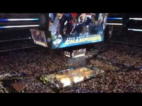 The finals seconds and ensuing celebration of the 2014 NCAA Men's Basketball Championship game.