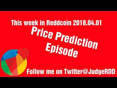 This week in Reddcoin 2018.04.01 Price Prediction Episode