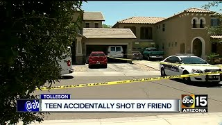 Teenager hospitalized after shot in face by friend