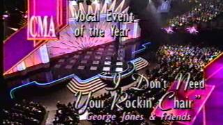 George Jones' Wife Accepts '93 CMA Award For Him While He's In The Bathroom