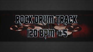 Easy Rock Drum Track 120 BPM (HQ,HD)