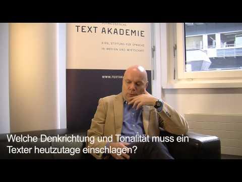 CAS Texter / CAS Texterin: Roger Hausmann, Präsident Schweizer Texterverband