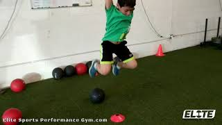 Youth Athlete Jumping Technique