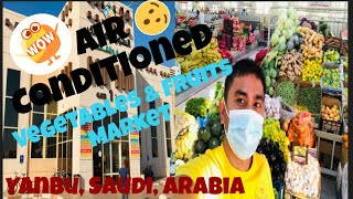 AIR CONDITIONED FRESH VEGETABLES AND FRUITS MARKET IN YANBU SAUDI ARABIA