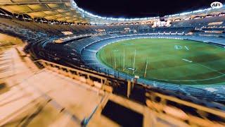 One-shot FPV Drone in Optus Stadium - 4K