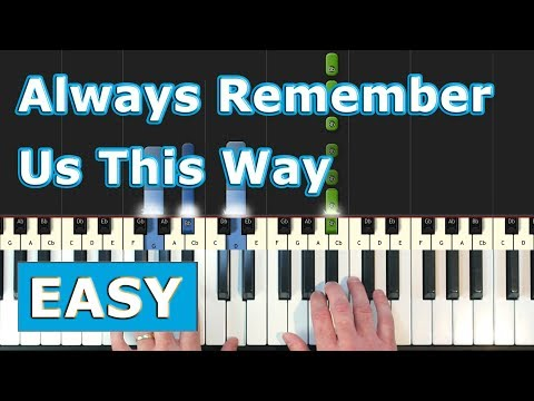 Lady Gaga - Always Remember Us This Way - EASY Piano Tutorial  - (A Star Is Born) Sheet Music