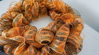 DIY: Fall Ruffle Deco Mesh Wreath Dollar Tree