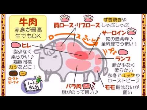 , title : '食育3話「牛肉の部位の名称」