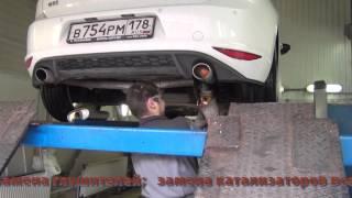 Установка прямоточных глушителей Volkswagen Golf GTI APR