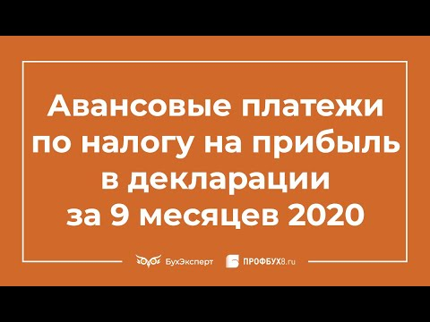 Налог на прибыль в декларации за 9 месяцев (3 квартал) 2020