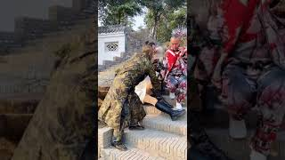 Sculpture Performer ,  Sculpture Asia Play with Cute Girl Funny Part 25