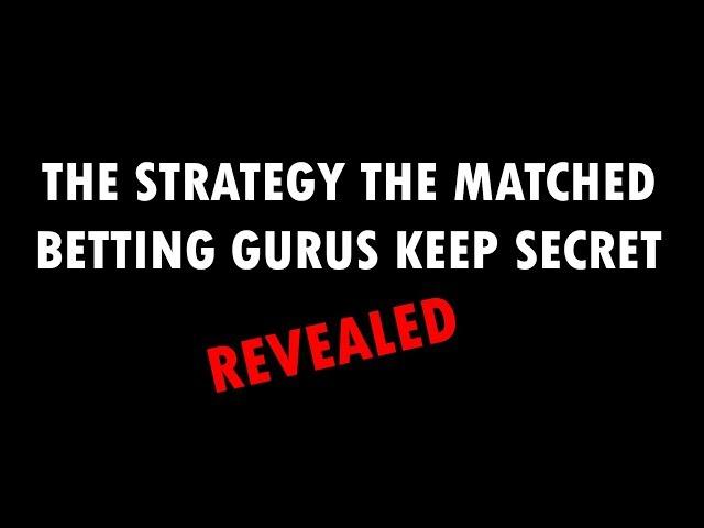 Secret Matched Betting Strategy