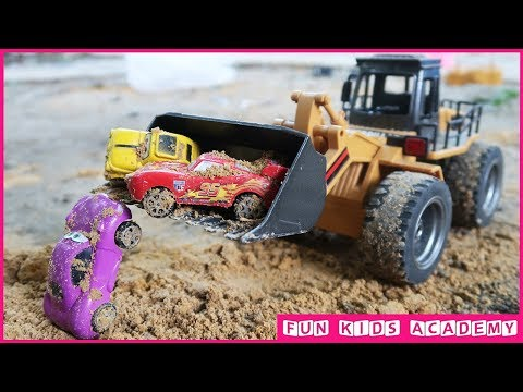 Disney Pixar Cars 3 | Finger Family Songs | Construction Trucks For Children | Nursery Rhymes Songs